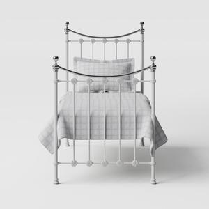 Carrick Chromo iron/metal single bed in white - Thumbnail