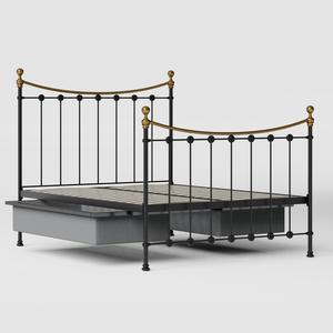 Carrick iron/metal bed in black with drawers - Thumbnail