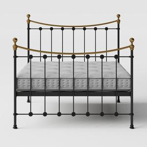 Carrick iron/metal bed in black with Juno mattress - Thumbnail