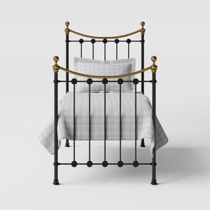 Carrick iron/metal single bed in black - Thumbnail