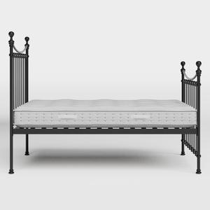 Carrick Solo iron/metal bed in black with Juno mattress - Thumbnail
