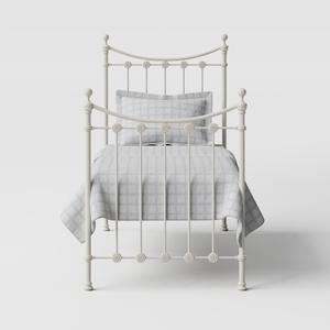 Carrick Solo iron/metal single bed in ivory - Thumbnail