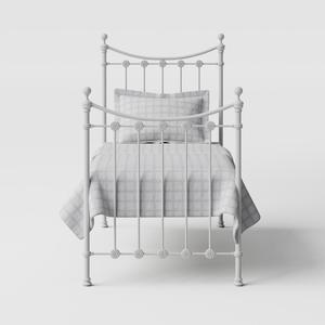 Carrick Solo iron/metal single bed in white - Thumbnail