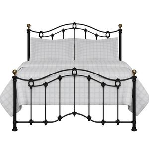 Clarina Low Footend iron/metal bed in black - Thumbnail