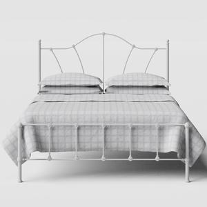 Claudia iron/metal bed in white - Thumbnail