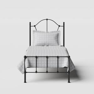 Claudia iron/metal single bed in black - Thumbnail
