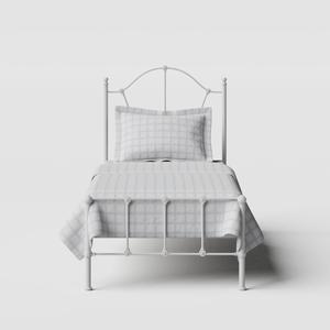 Claudia iron/metal single bed in white - Thumbnail