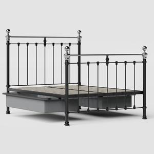 Hamilton Chromo iron/metal bed in black with drawers - Thumbnail