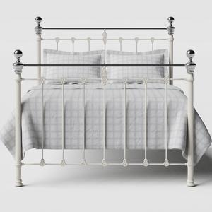 Hamilton Chromo iron/metal bed in ivory - Thumbnail