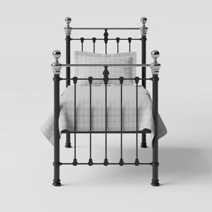 Hamilton Chromo iron/metal single bed in black - Thumbnail