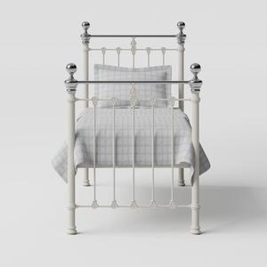 Hamilton Chromo iron/metal single bed in ivory - Thumbnail
