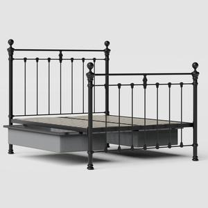 Hamilton Solo iron/metal bed in black with drawers - Thumbnail