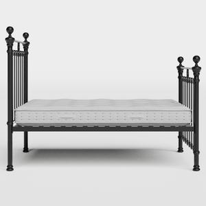 Hamilton Solo iron/metal bed in black with Juno mattress - Thumbnail
