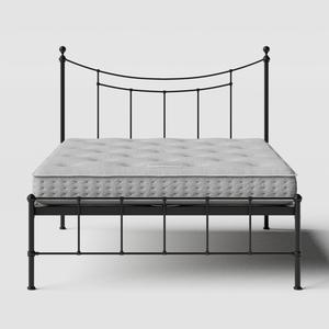 Isabelle iron/metal bed in black with Juno mattress - Thumbnail