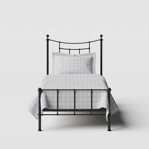 Isabelle iron/metal single bed in black - Thumbnail