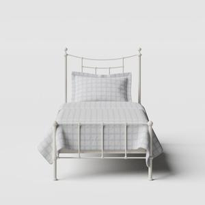 Isabelle iron/metal single bed in ivory - Thumbnail