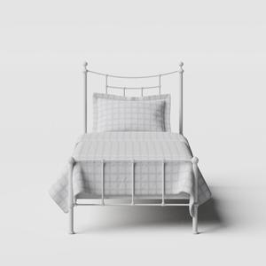 Isabelle iron/metal single bed in white - Thumbnail