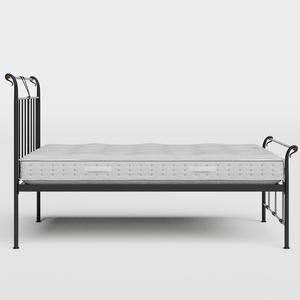 Pellini iron/metal bed in black with Juno mattress - Thumbnail