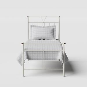 Pellini iron/metal single bed in ivory - Thumbnail