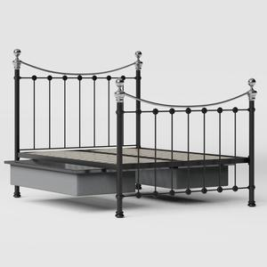 Selkirk Chromo iron/metal bed in black with drawers - Thumbnail