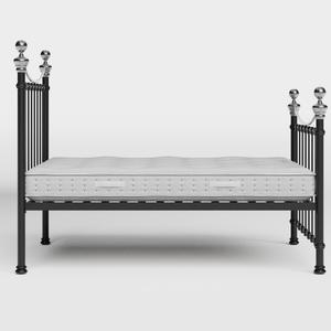 Selkirk Chromo iron/metal bed in black with Juno mattress - Thumbnail
