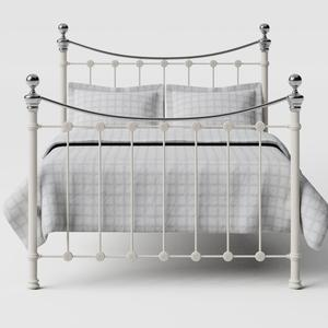 Selkirk Chromo iron/metal bed in ivory - Thumbnail