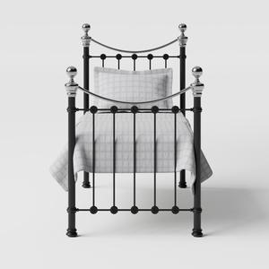 Selkirk Chromo iron/metal single bed in black - Thumbnail