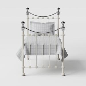 Selkirk Chromo iron/metal single bed in ivory - Thumbnail