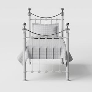 Selkirk Chromo iron/metal single bed in white - Thumbnail