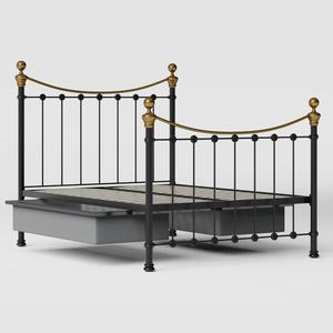 Selkirk iron/metal bed in black with drawers - Thumbnail