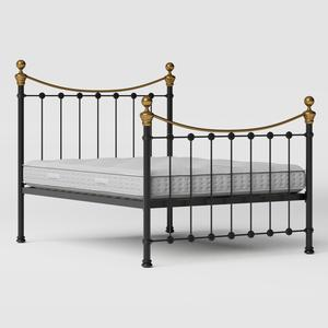 Selkirk iron/metal bed in black with Juno mattress - Thumbnail