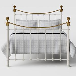 Selkirk iron/metal bed in ivory - Thumbnail