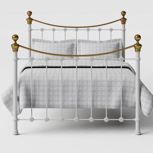 Selkirk iron/metal bed in white - Thumbnail