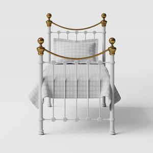 Selkirk iron/metal single bed in white - Thumbnail
