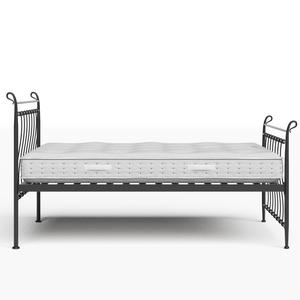 Tiffany iron/metal bed in black with Juno mattress - Thumbnail