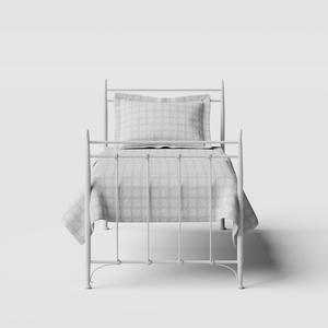 Tiffany iron/metal single bed in white - Thumbnail