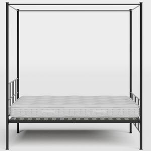 Toulon ijzeren bed in zwart met matras - Thumbnail