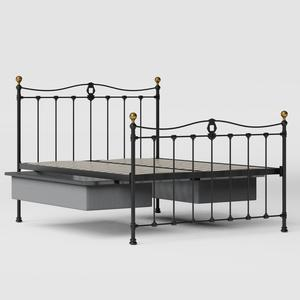 Tulsk iron/metal bed in black with drawers - Thumbnail