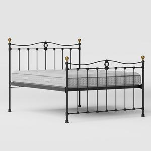 Tulsk iron/metal bed in black with Juno mattress - Thumbnail