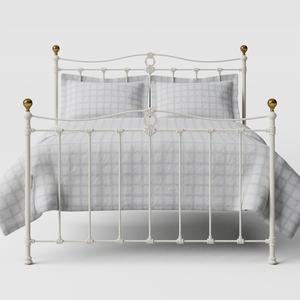 Tulsk iron/metal bed in ivory - Thumbnail