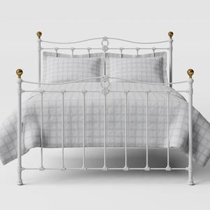 Tulsk iron/metal bed in white - Thumbnail