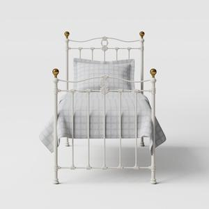 Tulsk iron/metal single bed in ivory - Thumbnail