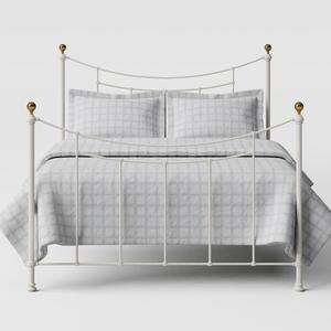 Virginia iron/metal bed in ivory - Thumbnail