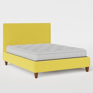 Yushan with Piping upholstered bed in sunflower fabric - Thumbnail