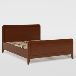 Keats wood bed in dark cherry - Thumbnail