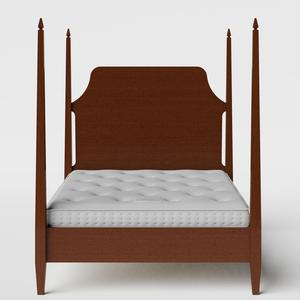 Turner wood bed in dark cherry with Juno mattress - Thumbnail