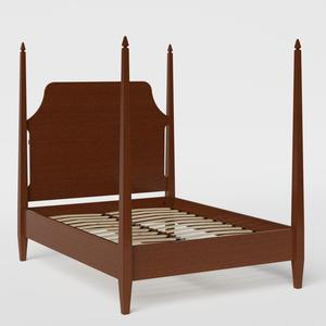 Turner wood bed in dark cherry - Thumbnail