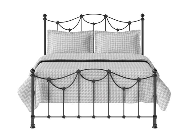 Carie Low Footend Iron Metal Bed In Satin Black Thumbnail