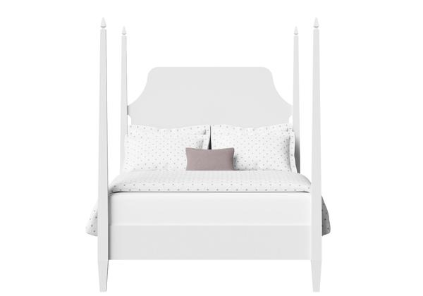 Turner Wood Bed in White - Thumbnail