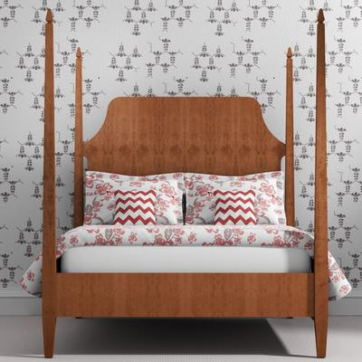 Four poster wood bed in Cherry